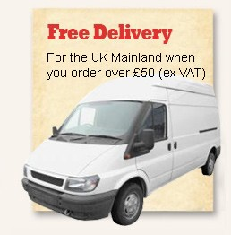 Free delivery for the UK mainland