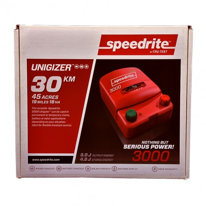 SPE 3000 dual power electric fence energiser