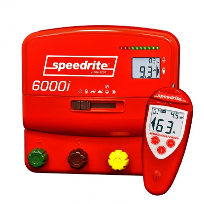 SPE 6000i dual power electric fence energiser with Remote Fault Finder