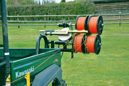 Reels on an RTV Winder fencing machine