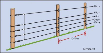 wire heights u0026 post spacings for electric fencing