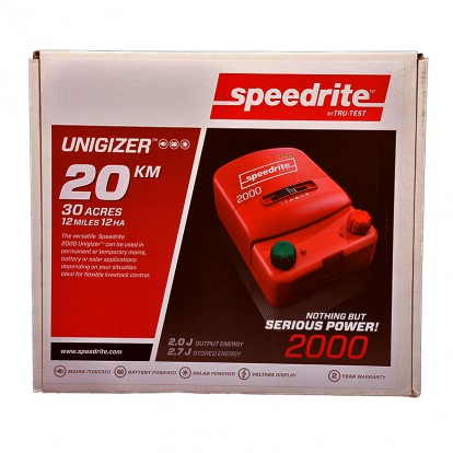 SPE 2000 dual power electric fence energiser